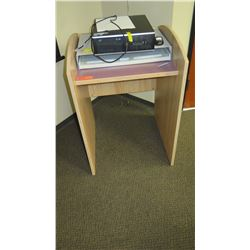 "Wooden Podium 24"" x 24"" x 35""H (electronics shown in photos not included)"