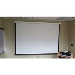 "Large Retractable Projection Screen 90"" x 70.5"""