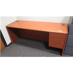 "Wooden Desk w/ Drawers 72""L x 24""W x 30""H"