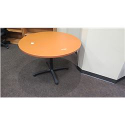 "Round Wooden Table 42"" Dia, 28.5"" H"