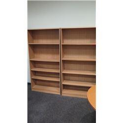 "Qty 2 Bookcases 37""W x 12""D x 72""H"