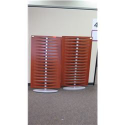"Qty 2 Decorative Dividers (one slightly wobbly), 32""W x 58.5""H"