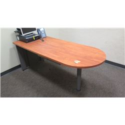 "Long Woooden Desk/Table w/ Rounded End 72"" x 30""W x 29.5""H"