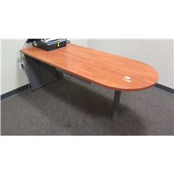 "Long Woooden Desk/Table w/ Rounded End 72"" x 30""W x 28.5""H"