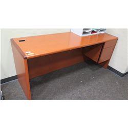 "Wooden Desk 72""L x 24""D x 30""H"