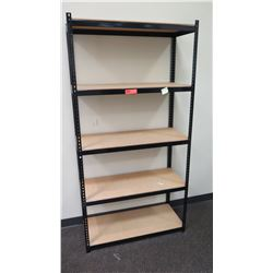 "Shelving Unit w/ Metal Frame 36.5""L x 15.5""D x 72""H"