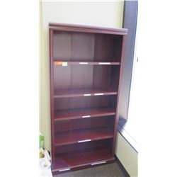 "Wooden Bookcase 35.5""L x 12.5""D x 72.5""H"
