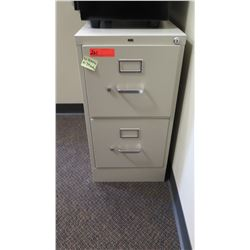 "2-Drawer HON File Cabinet 15""W x 26.5""D x 29""H"