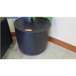 "Round Black Column Table 25"" Dia. x 21.5""H"