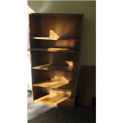 """Wooden Bookcase 36.5""""H x 12""""D x 71.5""""H"""