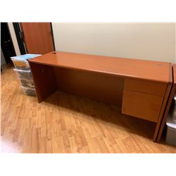 "Long Wooden Desk 74""L x 24""D x 30""H"