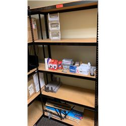 "Shelving Unit w/ Metal Frame 15.5""D, 72""H w/ Contents of Shelves"
