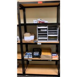 "Shelving Unit w/ Metal Frame 15.5""D, 72""H w/Contents of Shelves"