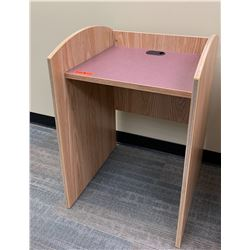 """Wooden Podium or Printer Stand 24"""" x 24"""" x 35""""H"""