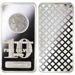10 oz. Morgan Design Silver Bar -.999 pure