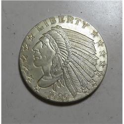 1929 1 oz Silver Round Restrike Indian Head
