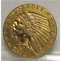 1926 $2.5 Gold Indian Coin  XF Grade