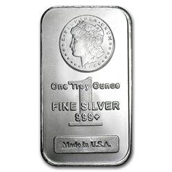 1 oz. Silver Morgan Design Silver Bar .999 pure