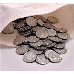 130 pcs. Roosevelt Dimes 90% Silver in Bag