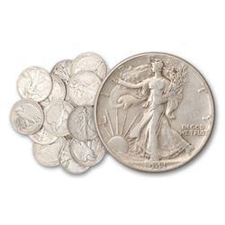 20 pcs. Walking Liberty Half Dollars - 90% Silver