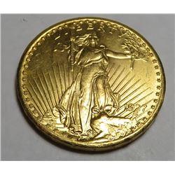 1927 $20 Gold Saint Gaudens Coin XF-AU Grade
