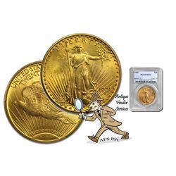 1925 MS 62 PCGS $20 Gold Saint Gaudens