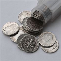 50 pcs. Roosevelt Dimes -90% Silver in Roll