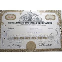 1969 STUDEBAKER-PACKARD Stock Certificate