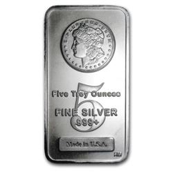 5 oz. Morgan Design Silver Bar . 999 pure