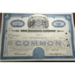 1955 ERIE RAILROAD Stock Certificate