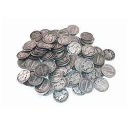 50 pcs. Mercury Dimes - 90% Silver