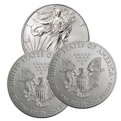 3 pcs. Random Date US Silver Eagles