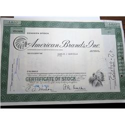 1970 American Brands Tobacco Indian Head Stock