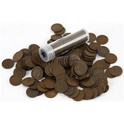50 pcs. Indian Head Cents in Roll - AG-VG plus