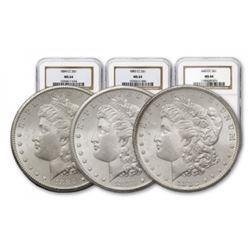 1882-83-84 Carson City MS 64 NGC/PCGS Morgan $1