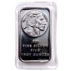 5 oz. Silver Buffalo Design Silver Bar .999 pure