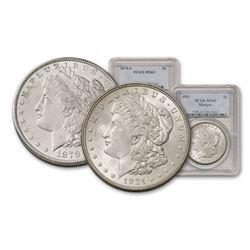 1878 S - 1921 MS 63 NGC/PCGS $1 Morgan Duo