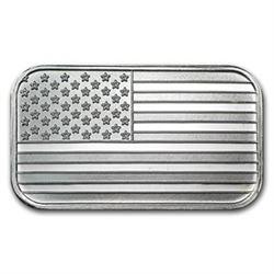1 oz. USA Flag Design Silver Bar