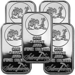 5 pcs. 1 oz Silver Prospector Bars - .999 pure