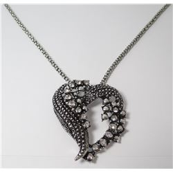 Fashion necklace  black & white approx. 18in