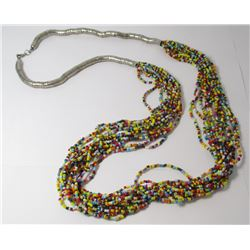 Multi Beaded Strand Fashion necklace