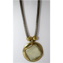 Gold Toned Glass Fashion necklace