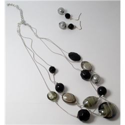 Fashion Beaded necklace with earrings