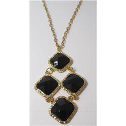 Fashion necklace Gold tone