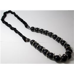 Black Beaded Fashion necklace