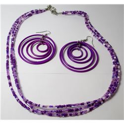 Beaded Fashion necklace with earrings
