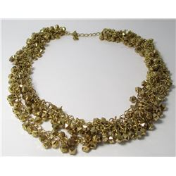 Gold toned Multi Strand Fashion necklace