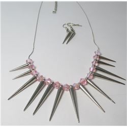 Fashion necklace with earrings