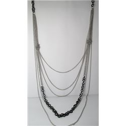 Multi Strand Chain Fashion necklace