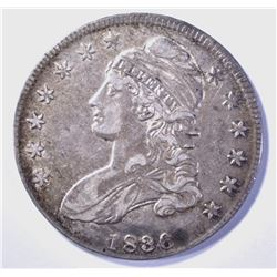 1836 LETTERED EDGE BUST HALF DOLLAR XF